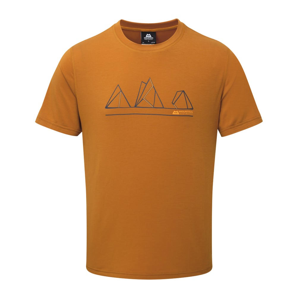 Mountain Equipment Triple Peak Tee Mens Pumpkin Spice