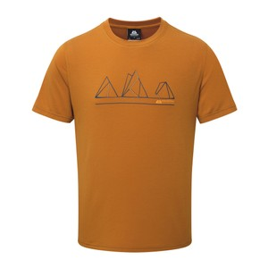 Mountain Equipment Triple Peak Tee Mens in Pumpkin Spice