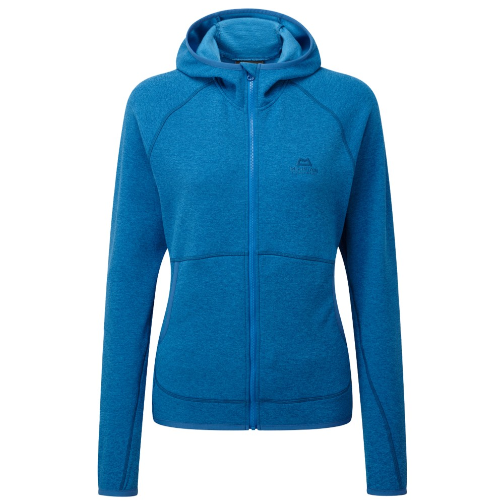 Mountain Equipment Calico Hooded Jacket Womens Lagoon Blue