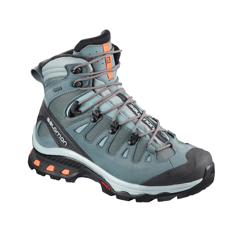 Salomon Quest 4D 3 GTX Womens Lead/Stormy Weather/Bir