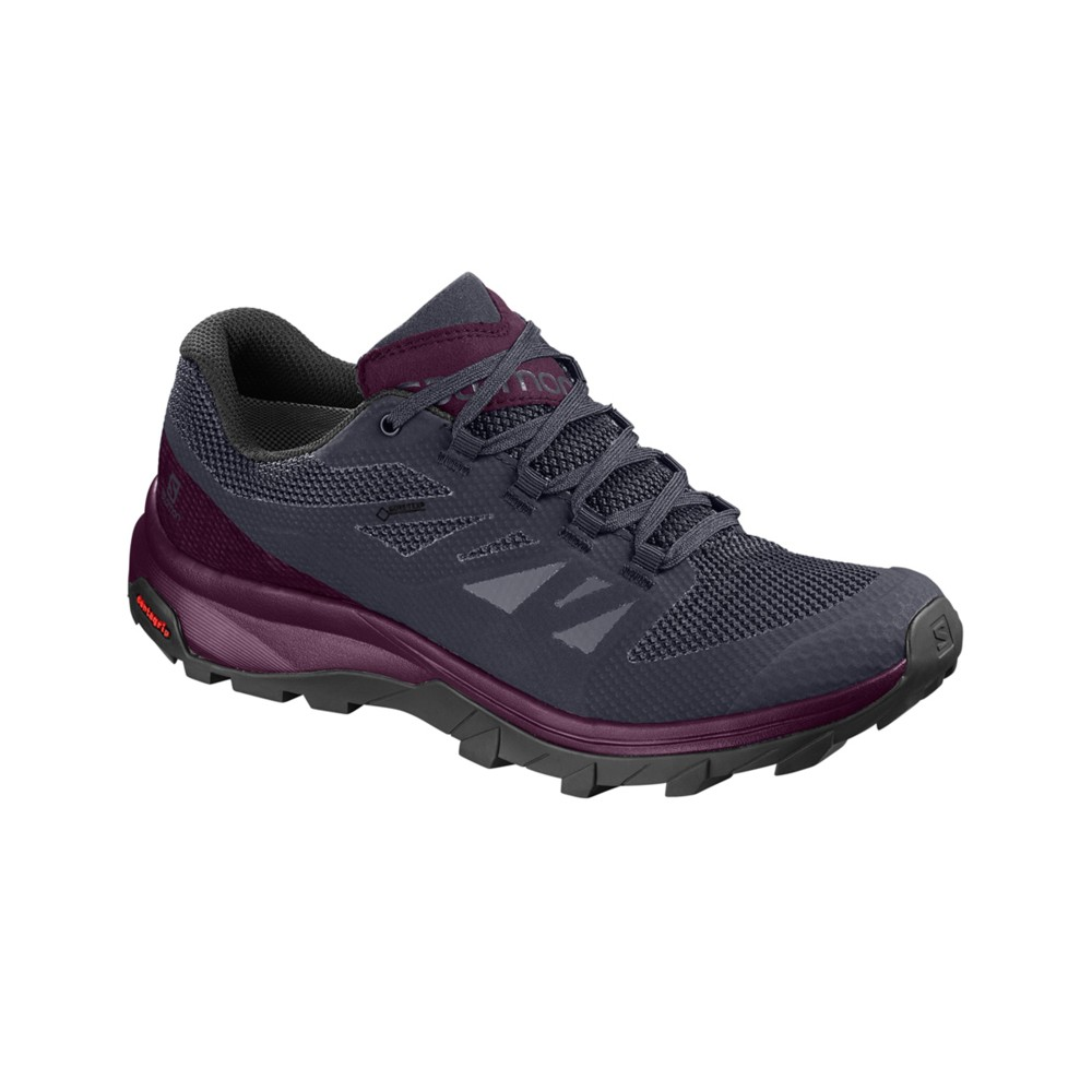 Salomon Outline GTX Womens Graphite/Potent Purple