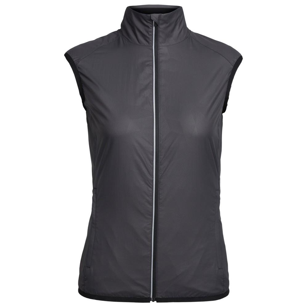 Icebreaker Rush Vest Folds Womens Black/Embossed