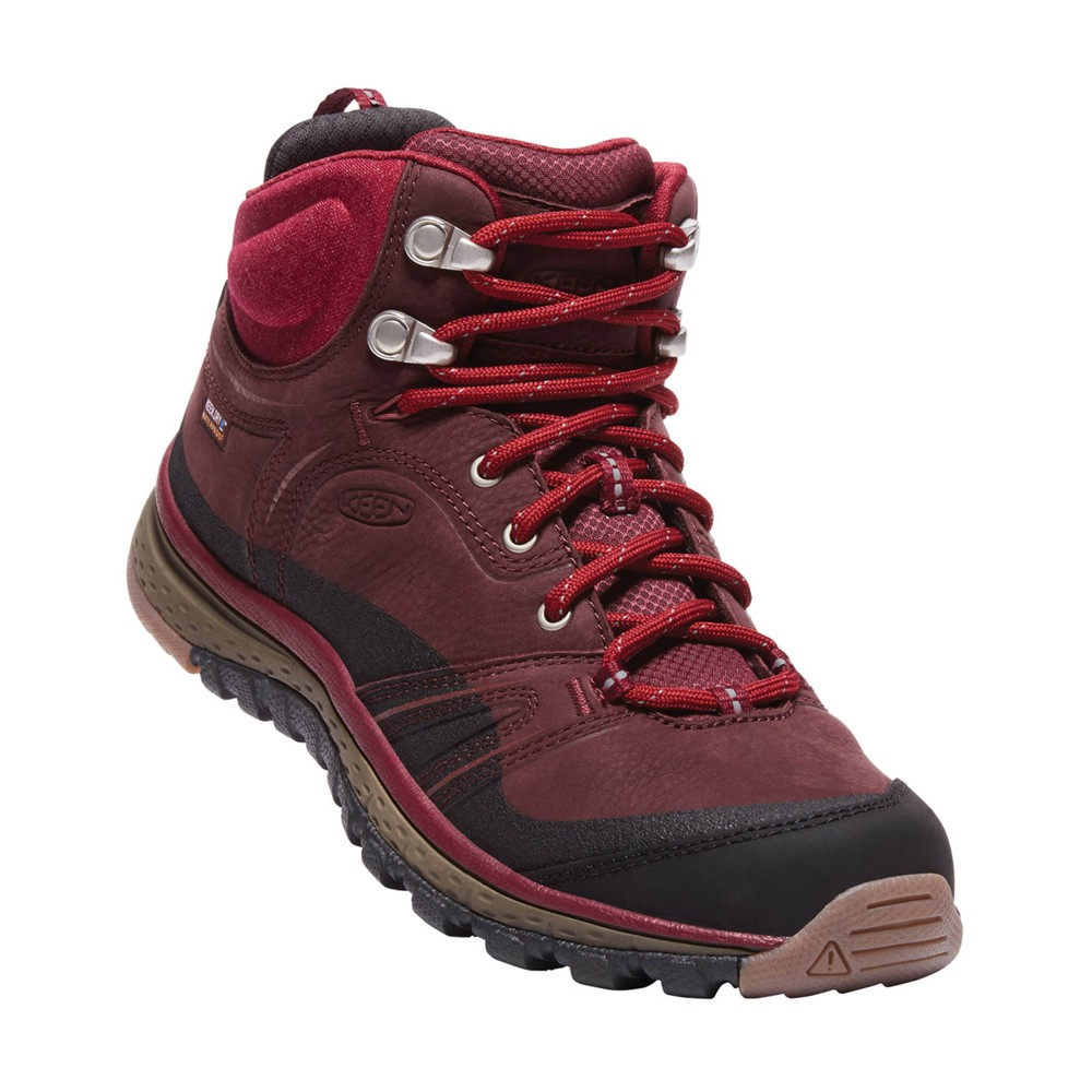 Keen Terradora Leather Mid WP Womens Wine/Rhododendron