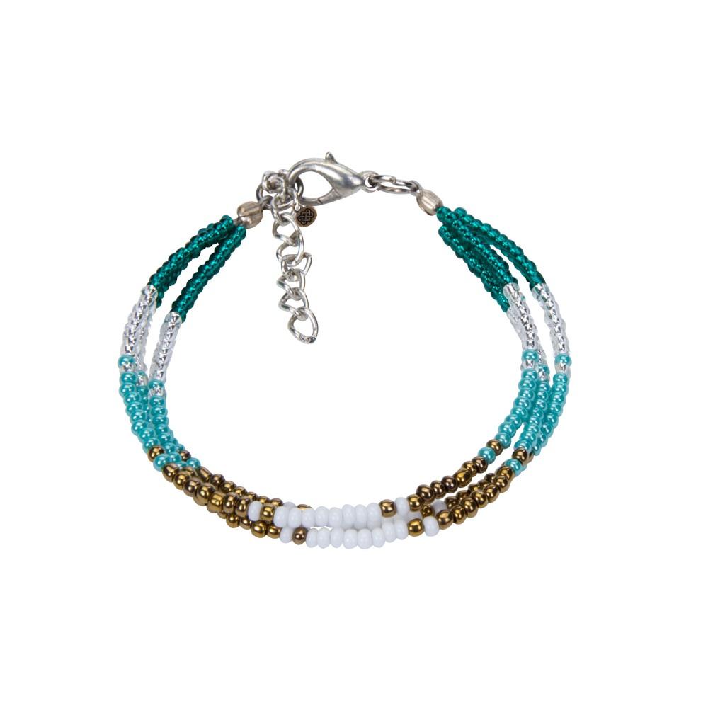 Sherpa Mayalu Three Wire Bracelet Rathna green