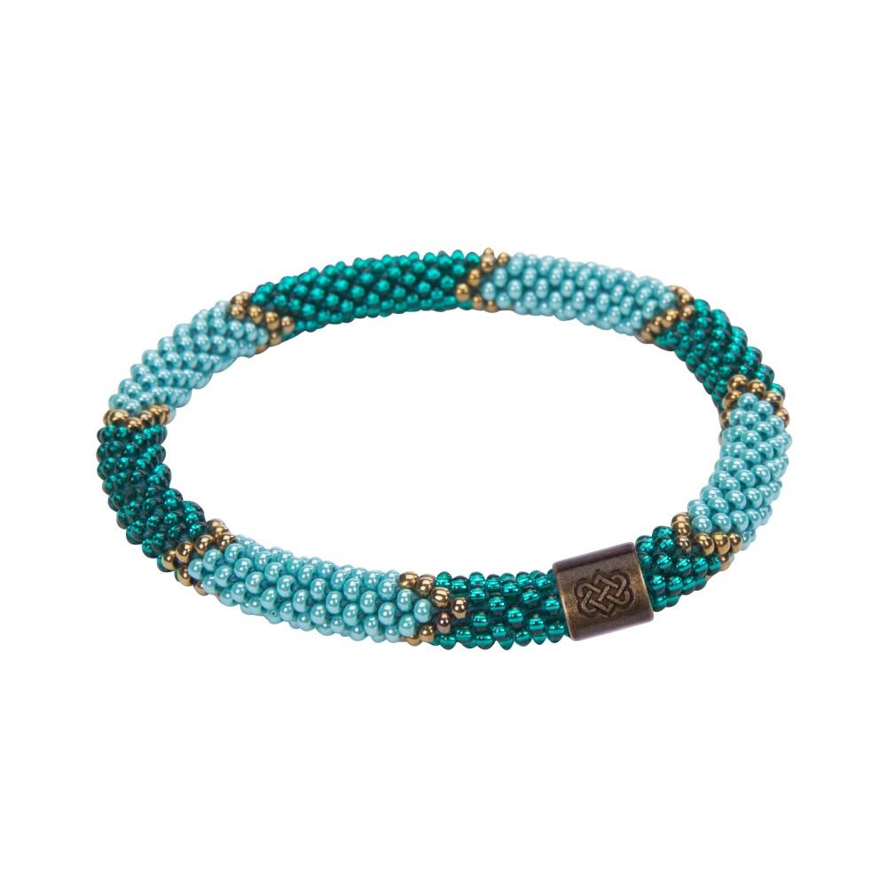 Sherpa Mayalu Ikat Roll On Bracelet Rathna green