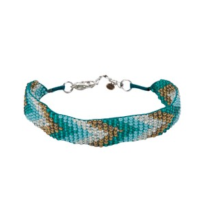 Sherpa Mayalu Chevron Bracelet in Rathna green