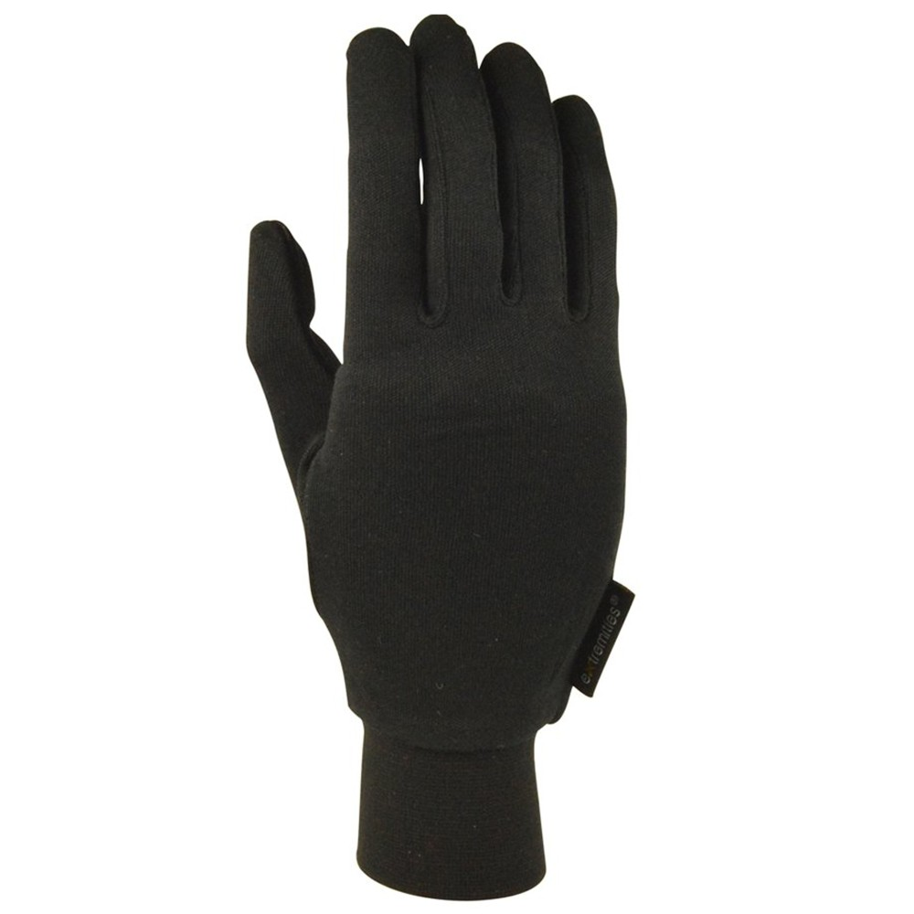 Extremities Silk Liner Glove Black