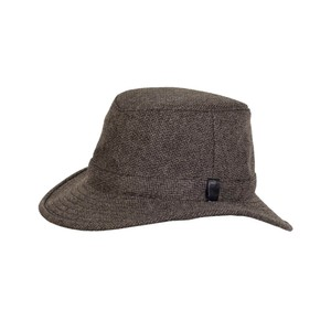 Tilley Endurables Tec Wool Hat in Brown/Black Herringbone