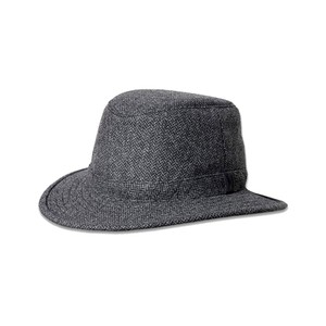Tilley Endurables Tec Wool Hat in Grey/Black Herringbone