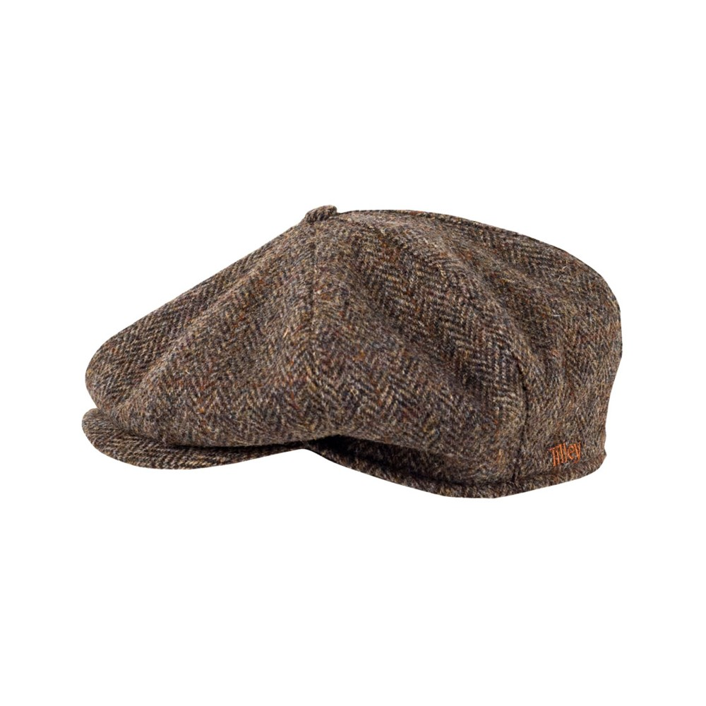 Tilley Endurables Newsboy Cap Brown Plaid