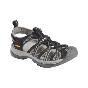 Keen Whisper Womens in Black/Neutral Gray