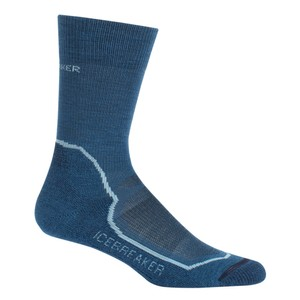 Icebreaker Hike+ Lite Crew Womens in Prussian Blue/Waterfall/Midnig