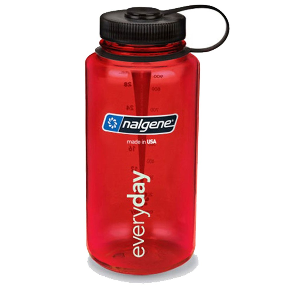 Nalgene Wide Mouth Tritan 1L Red w/Black Closure