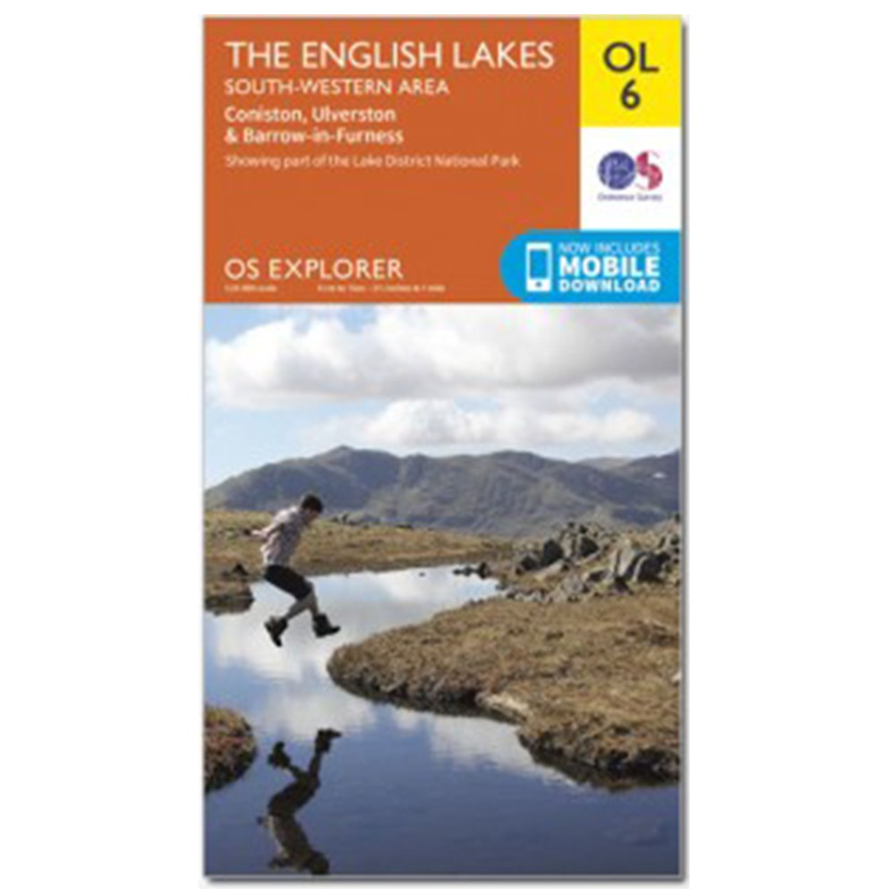 Ordnance Survey Active Explorer OL6 SW Lakes N/A