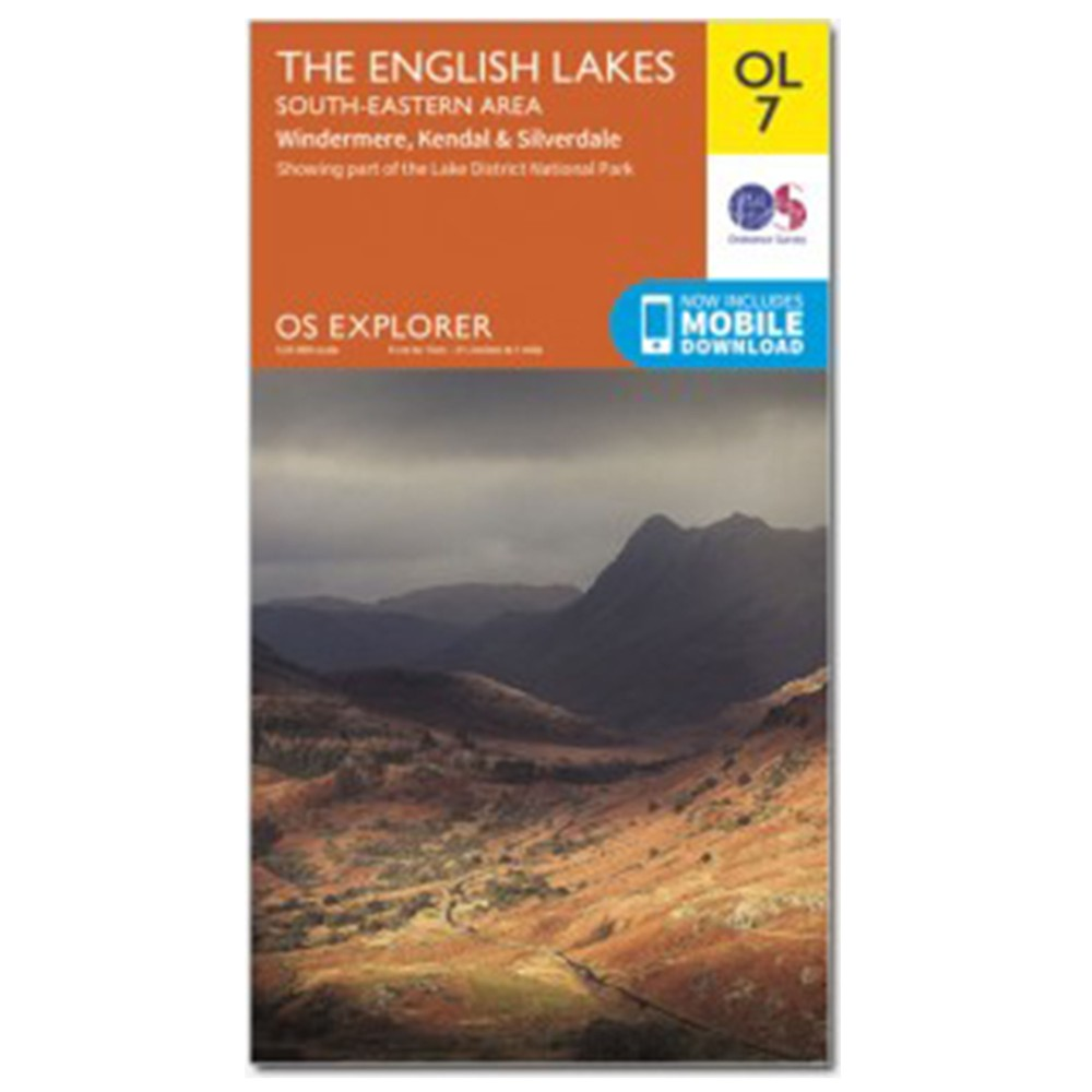 Ordnance Survey Active Explorer OL7 SE Lakes N/A