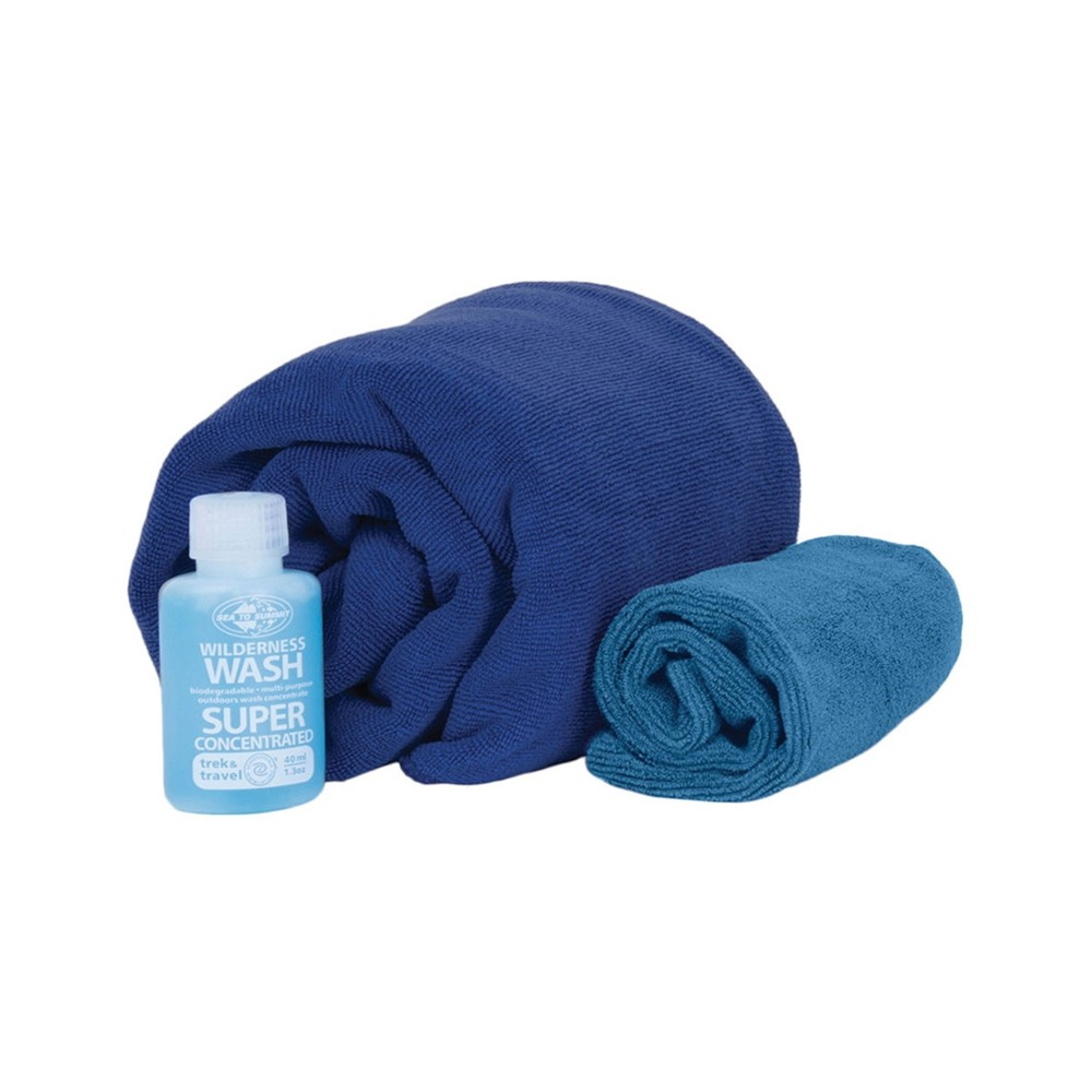 Sea To Summit Tek Towel Wash Kit Cobalt Blue