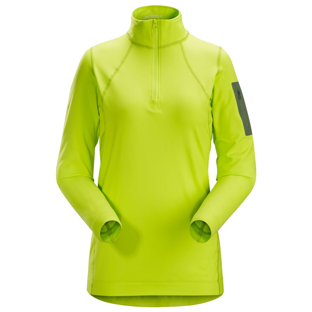 Arcteryx  Rho LT Zip Neck Womens Titanite