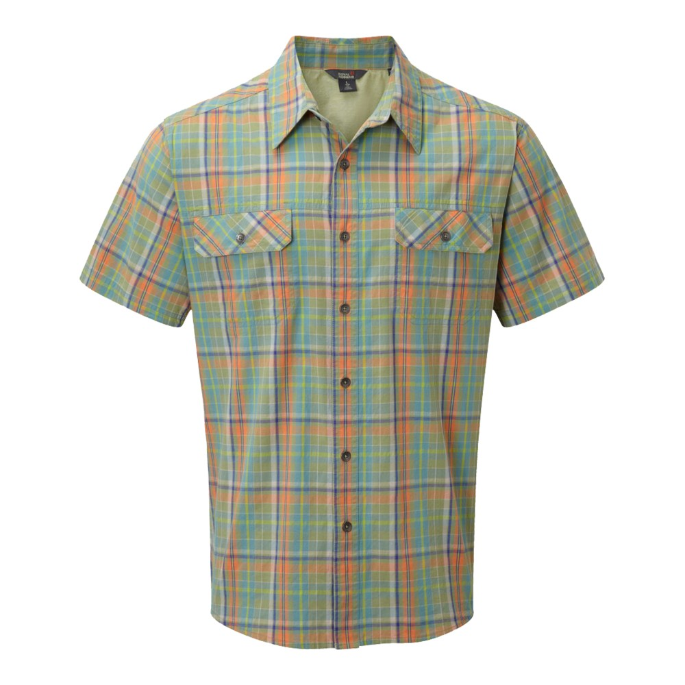 Royal Robbins Summertime Plaid SS Mens Celery