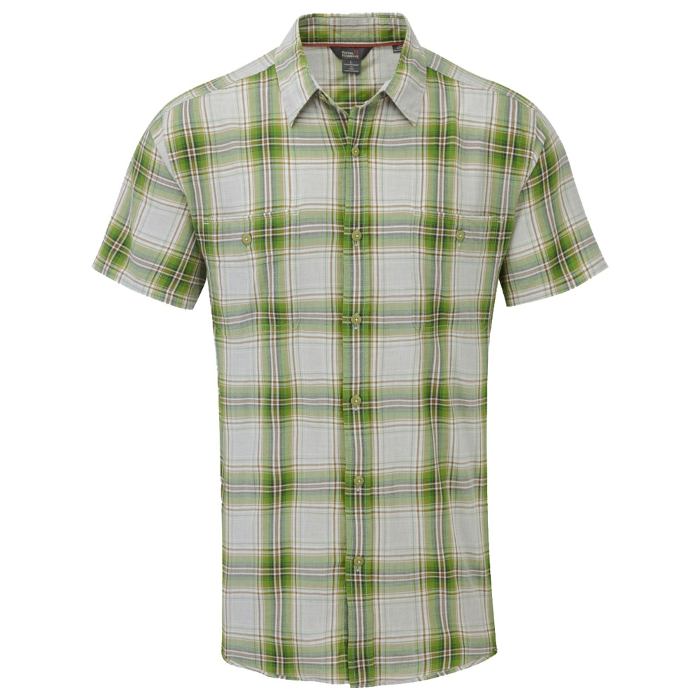 Royal Robbins Point Reys Plaid SS Mens Spanish Moss