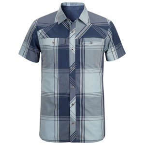 Black Diamond Technician Shirt SS Mens in Indigo/Aluminium Plaid