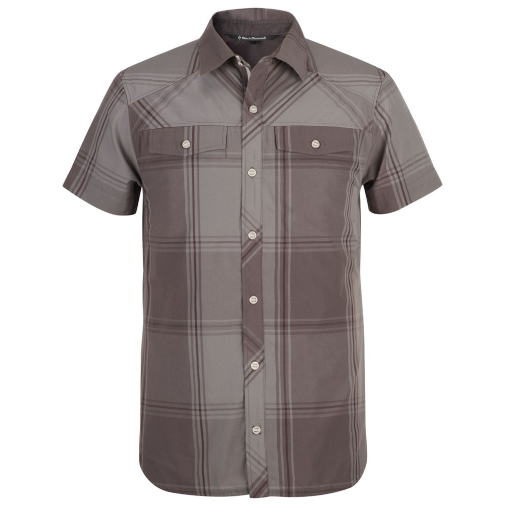 Black Diamond Technician Shirt SS Mens Slate/Port Plaid