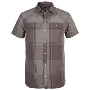 Black Diamond Technician Shirt SS Mens in Slate/Port Plaid
