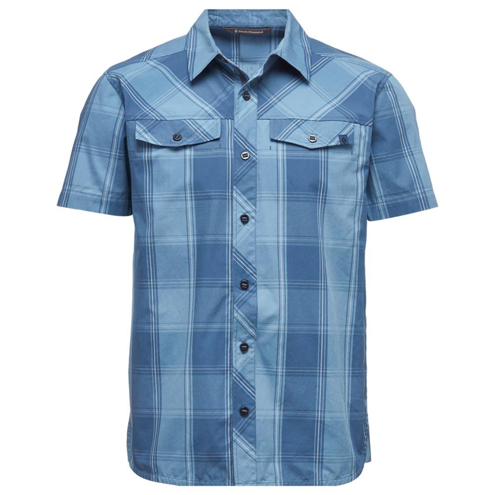 Black Diamond Technician Shirt SS Mens Ink Blue - Denim Plaid