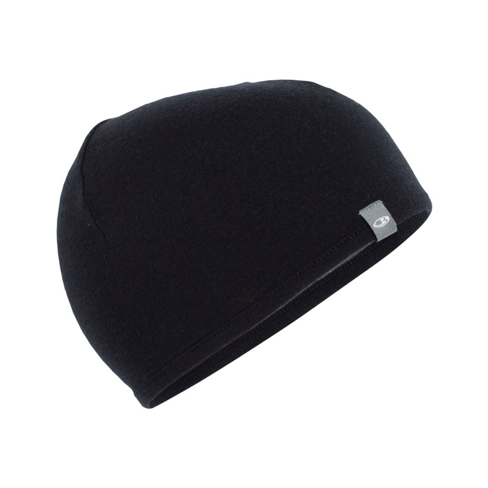 Icebreaker Pocket Hat Black/Gritstone Hthr