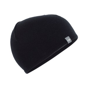 Icebreaker Pocket Hat in Black/Gritstone Hthr