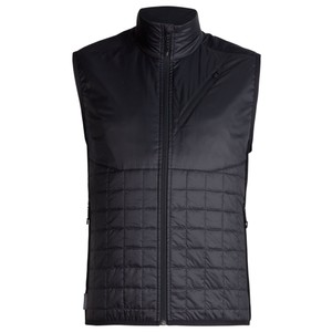 Icebreaker Helix Vest Mens in Black/Jet Heather