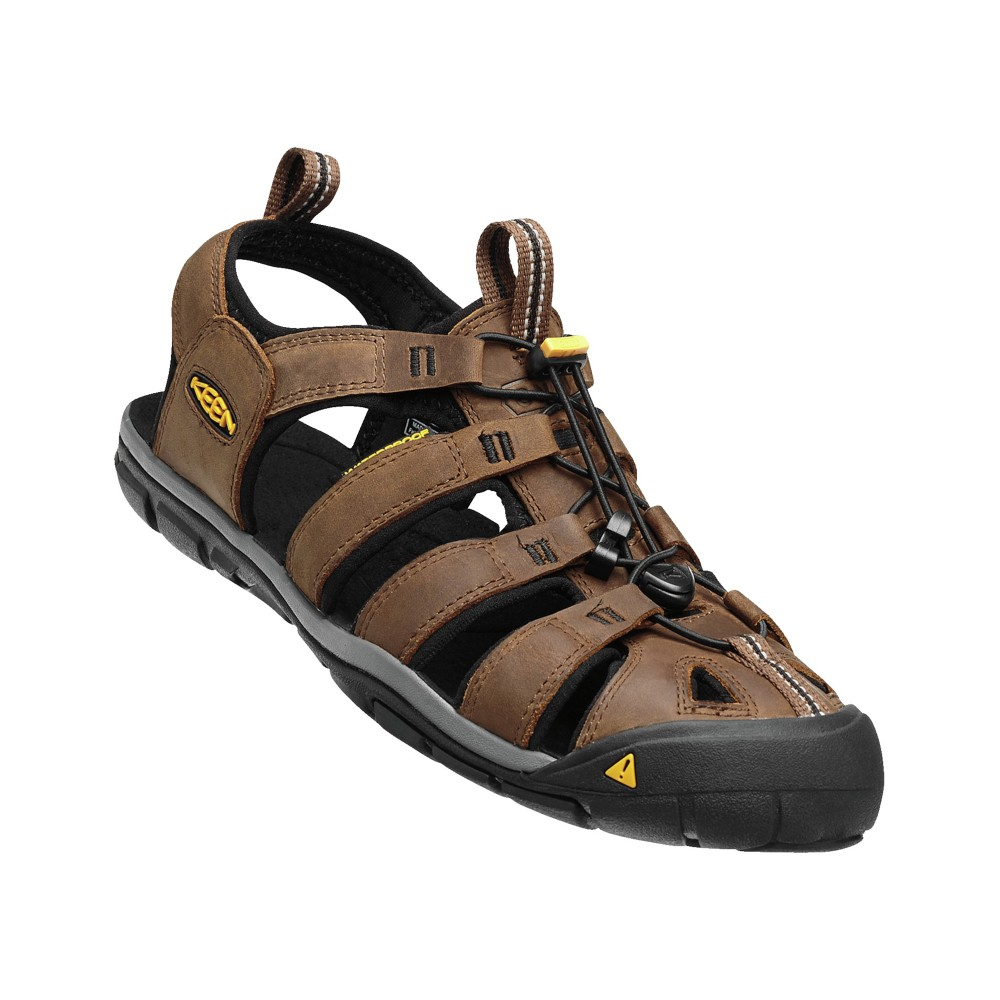 Keen Clearwater CNX Leather Mens Dark Earth/Black