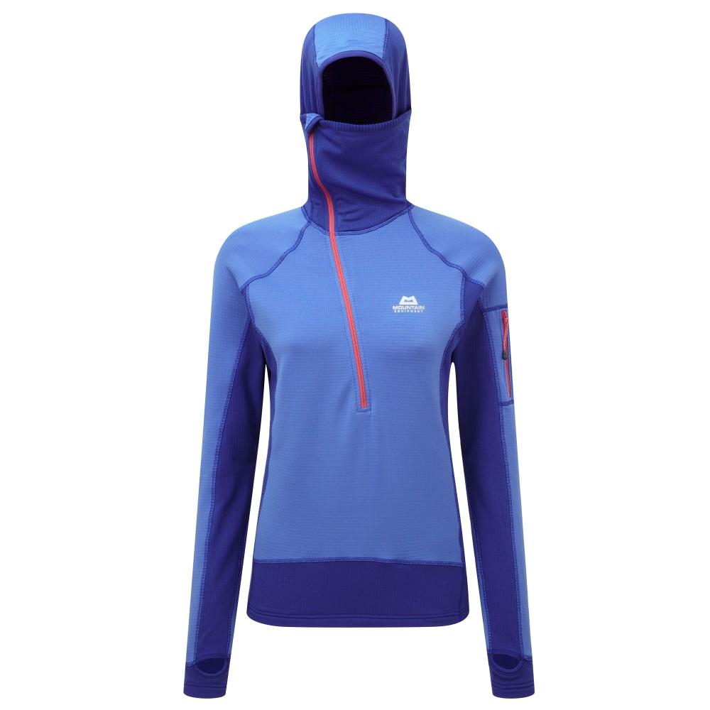 Mountain Equipment Eclipse Hooded Zip T Womens Celestial Blue/Cobalt