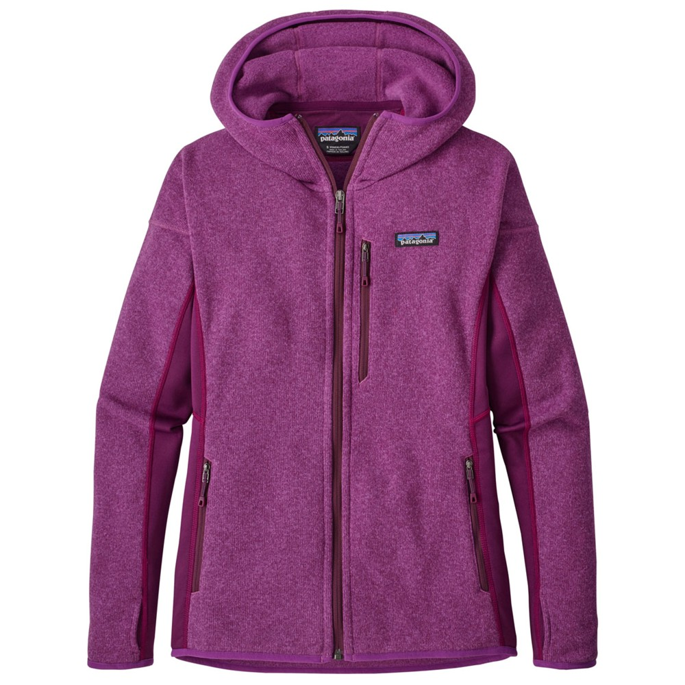 Patagonia Performance Better Sweater Hoody Womens Ikat Purple