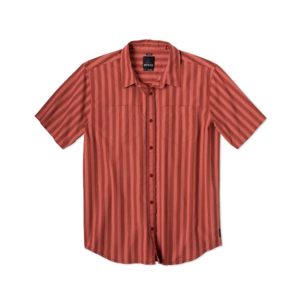 Prana Curtis SS Shirt Mens Indian Red