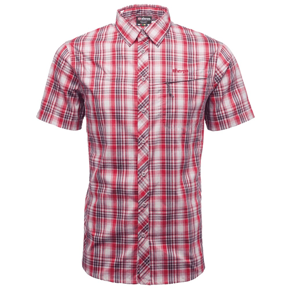 Sherpa Terai SS Shirt Mens Lama Red