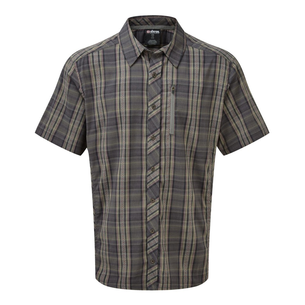 Sherpa Gokyo SS Shirt Mens Monsoon Grey