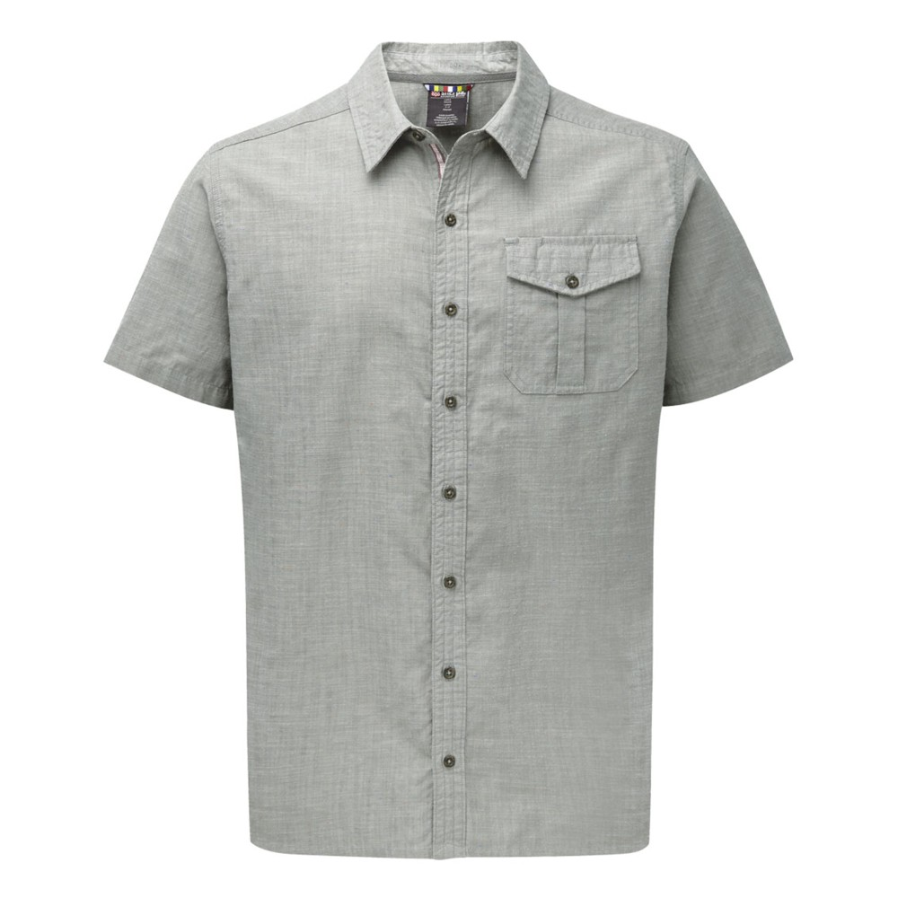Sherpa Lokta SS Shirt Mens Monsoon Grey
