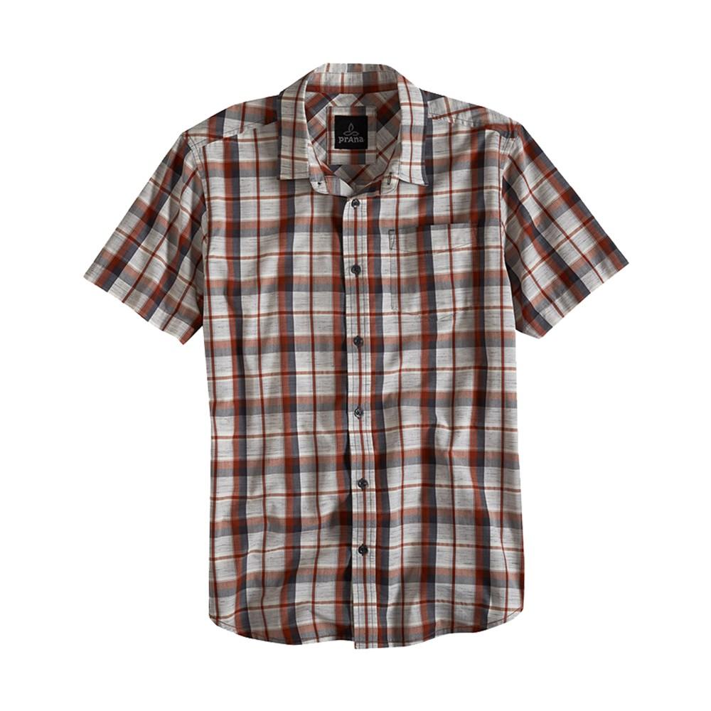 Prana Tamrack SS Shirt Mens Henna/Grey