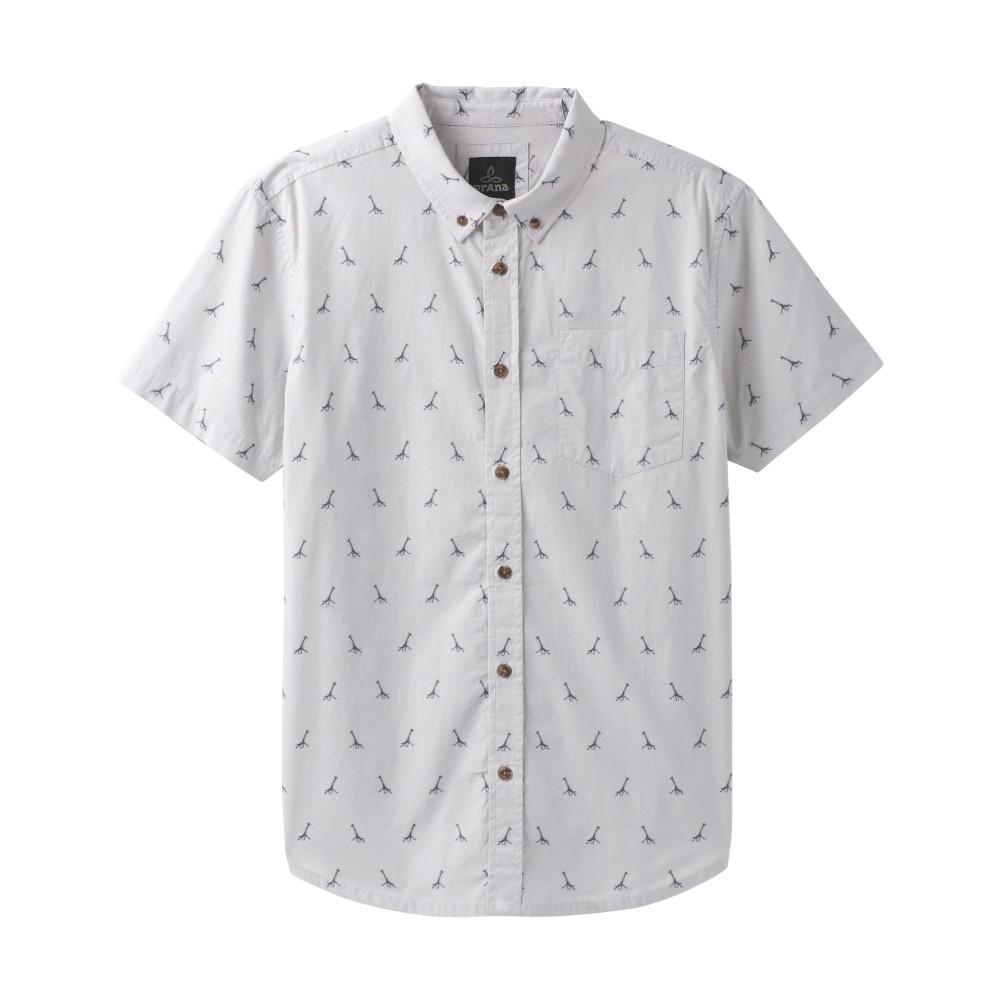 Prana Broderick Embroidery SS Shirt Mens Titanium Grey
