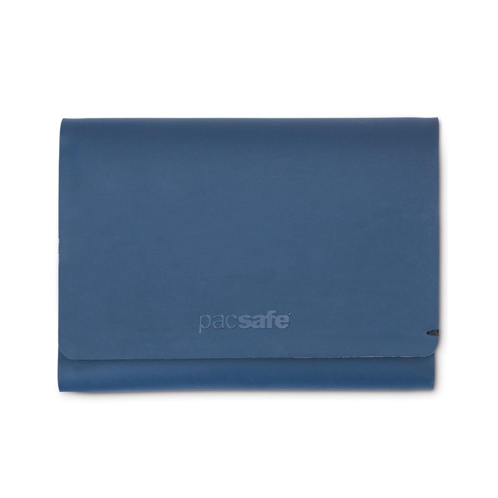 Pacsafe RFIDsafe TEC Trifold Wallet Navy Blue