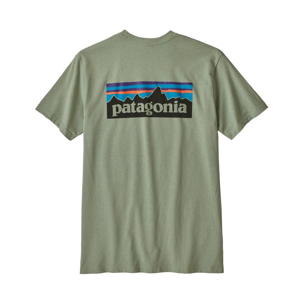 Patagonia P-6 Logo Responsibili-Tee Mens Celadon