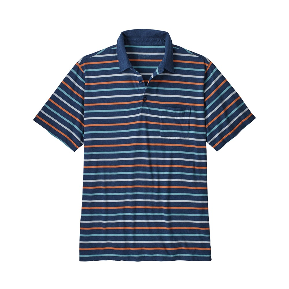 Patagonia Squeaky Clean Polo Mens Tiger Micro:Stone Blue