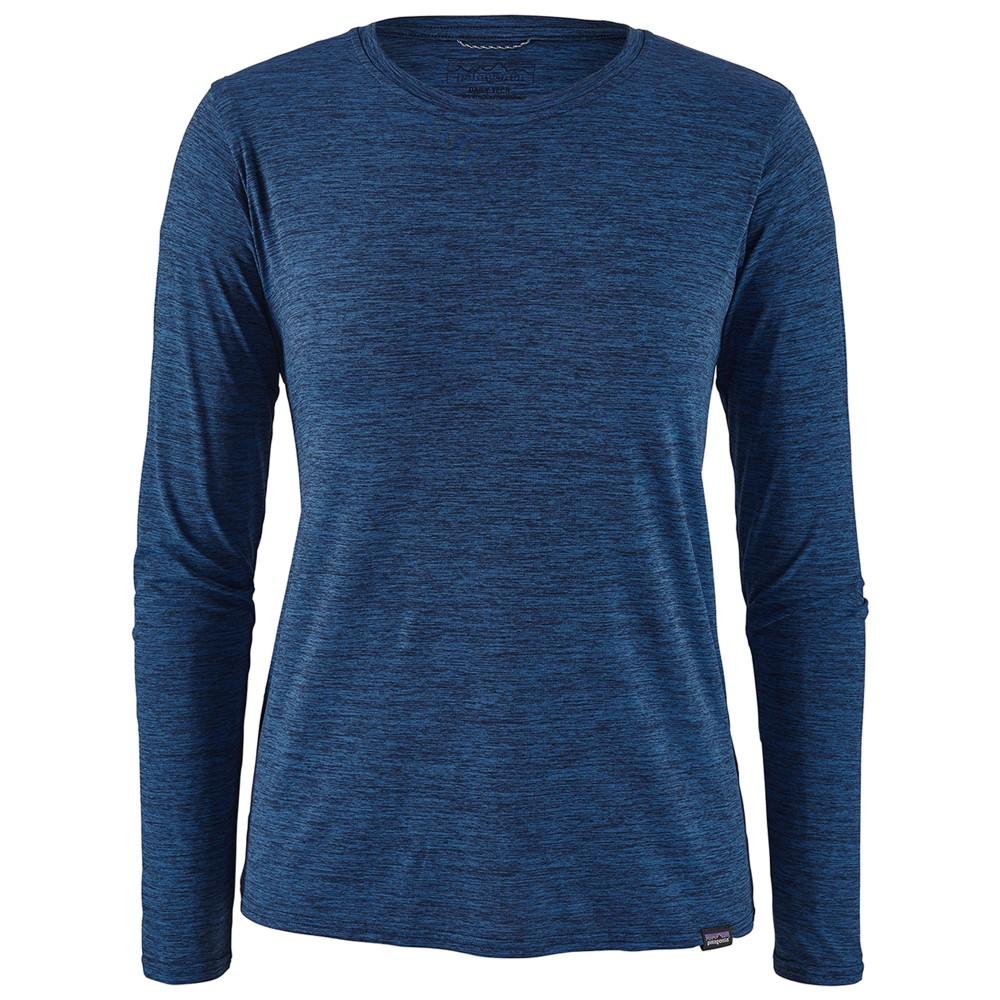 Patagonia LS Cap Cool Daily Shirt Womens Viking Blue/Navy Blue