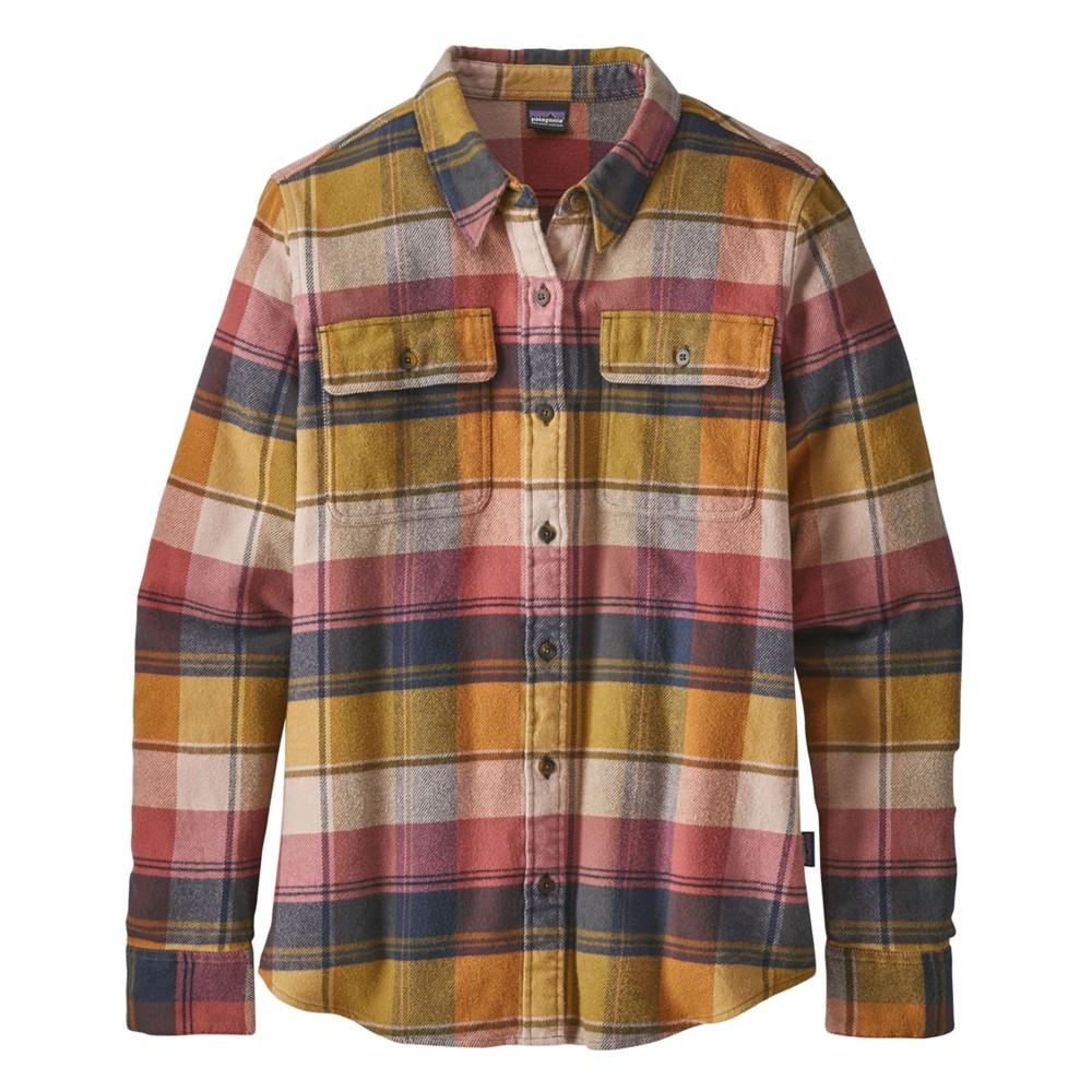 Patagonia LS Fjord Flannel Shirt Womens Spectra:Kiln Pink