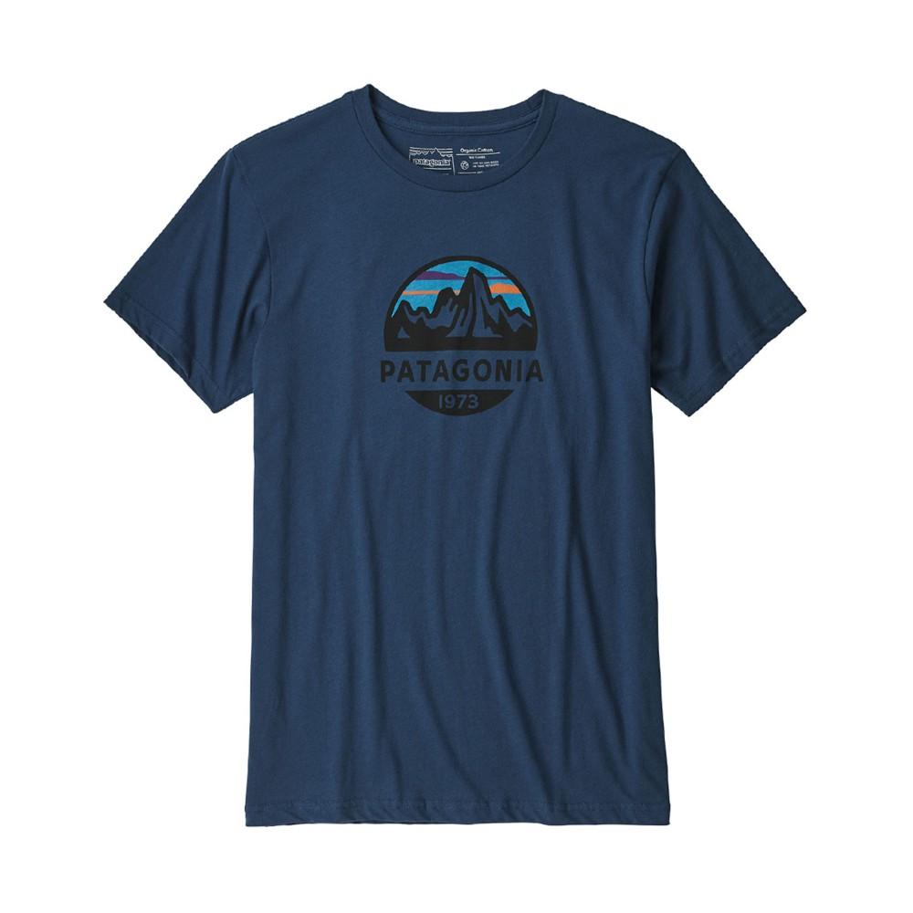 Patagonia Fitz Roy Scope Organic T-Shirt Mens STONE BLUE