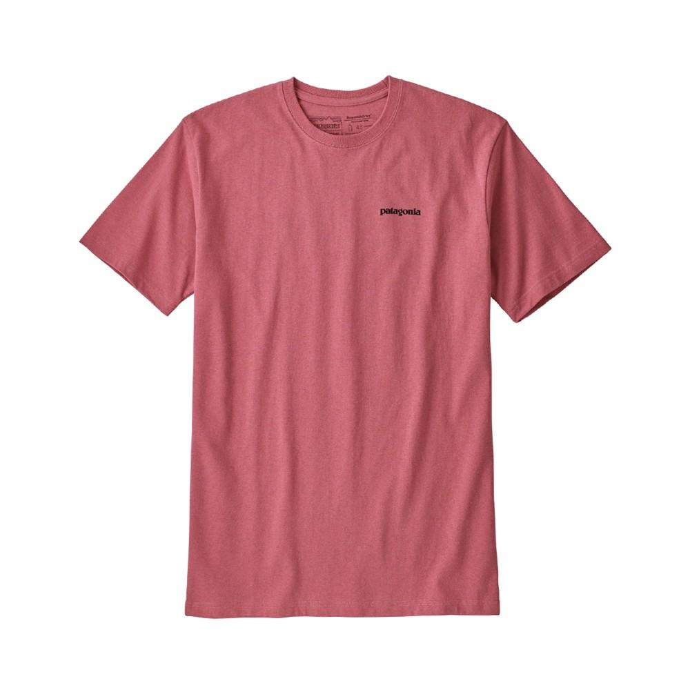 Patagonia P-6 Logo Responsibili-Tee Mens Sticker Pink