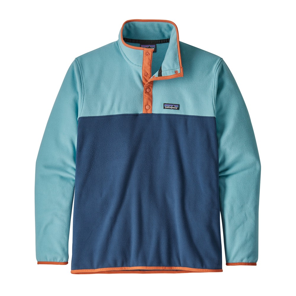Patagonia Micro D Snap-T Pullover Mens Stone Blue/Dam Blue
