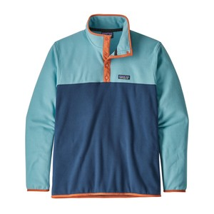 Patagonia Micro D Snap-T Pullover Mens in Stone Blue/Dam Blue