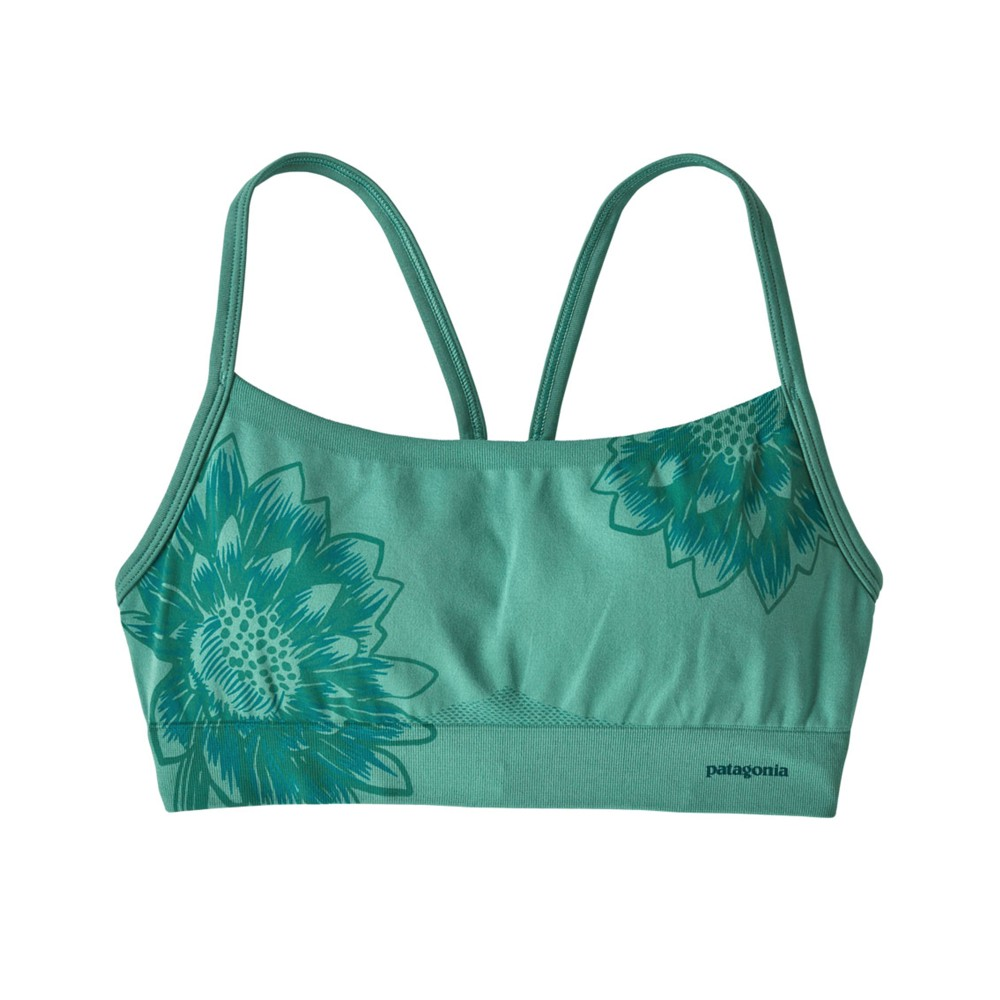 Patagonia Active Mesh Bra Womens Cereus Graphic-Beryl Green