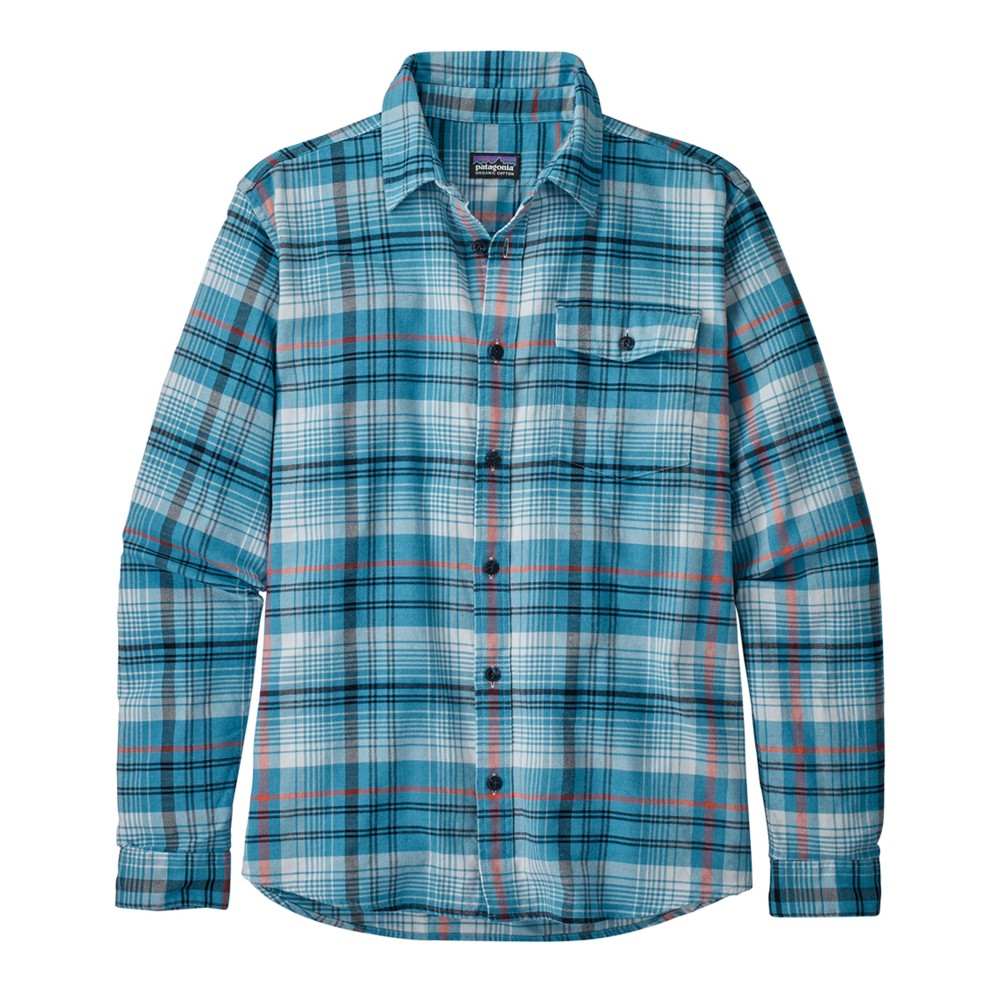 Patagonia LS Lightweight Fjord Flannel Shirt Mens Turf:Break Up Blue